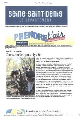 partenariat parc-lycée